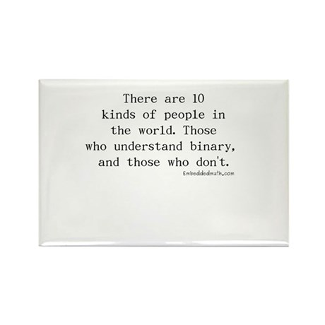 Binary Joke - Rectangle Magnet (100 pack)