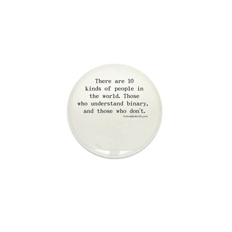 Binary Joke - Mini Button (100 pack)
