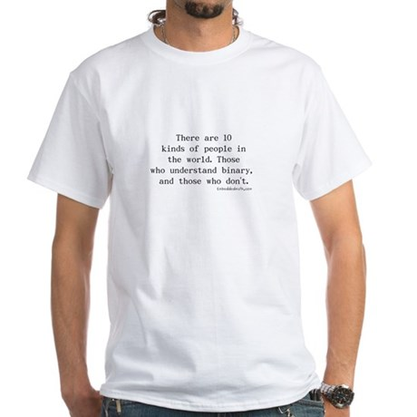 Binary Joke - White T-Shirt