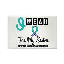 Thyroid Cancer Ribbon Rectangle Magnet