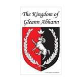 Kingdom of Gleann Abhann Rectangle  Aufkleber