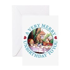 A VERY MERRY UNBIRTHDAY Greeting Card