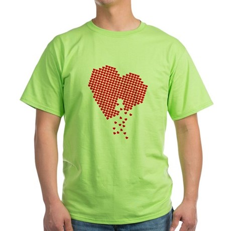 Lots of hearts Green T-Shirt