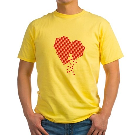 Lots of hearts Yellow T-Shirt