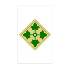 4th Infantry Division (1) Rectangle Decal