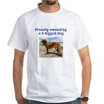 3-Legged Dog White T-Shirt