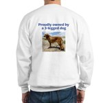 3-Legged Dog Sweatshirt