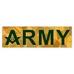 Masonic US Army Bumper Sticker
