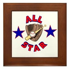Baseball All Star Framed Tile