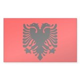 Albanian Rectangle Sticker 50 pk)