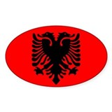 Albanian Oval Decal
