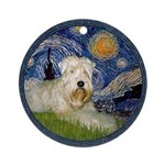 Starry / Wheaten (#1W) Ornament (Round)