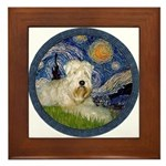 Starry / Wheaten (#1W) Framed Tile