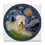 Starry / Wheaten (#1W) Tile Coaster