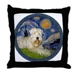 Starry / Wheaten (#1W) Throw Pillow