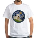 Starry / Wheaten (#1W) White T-Shirt
