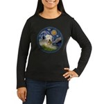 Starry / Wheaten (#1W) Women's Long Sleeve Dark T-