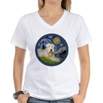 Starry / Wheaten (#1W) Women's V-Neck T-Shirt