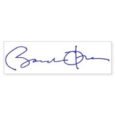 """Signed"" Bumper Bumper Sticker"