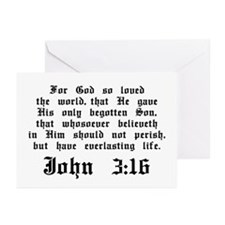 John 3:16 Greeting Cards (Pk of 10)