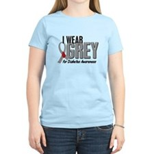 I Wear Grey 10 (Diabetes) T-Shirt