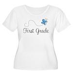 Pretty First Grade Women's Plus Size Scoop Neck T-
