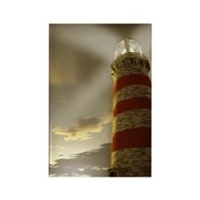 Lighthouse and Sky Rectangle Magnet