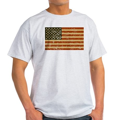 Vintage American Flag Light T-Shirt