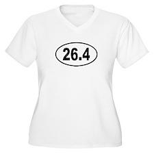 26.4 Womes Plus-Size V-Neck T-Shirt