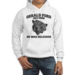 gerald ford eaten by wolves Hooded Sweatshirt