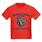 gerald ford eaten by wolves Kids Dark T-Shirt