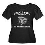 gerald ford eaten by wolves Women's Plus Size Scoo