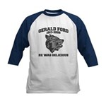 gerald ford eaten by wolves Kids Baseball Jersey