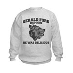 gerald ford eaten by wolves Kids Sweatshirt