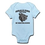 gerald ford eaten by wolves Infant Bodysuit