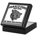 gerald ford eaten by wolves Keepsake Box