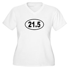 21.5 Womes Plus-Size V-Neck T-Shirt