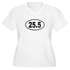 25.5 Womes Plus-Size V-Neck T-Shirt