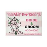 Letters Save The Date Rectangle Magnet (10 pack)