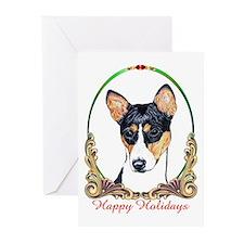 Basenji Dog Holiday Greeting Cards (Pk of 10)