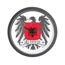 Albania Shield Wall Clock