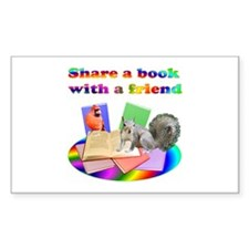 Share Books Rectangle Decal