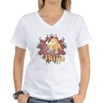 Bulls! Mascot Women's V-Neck T-Shirt