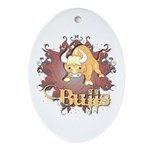 Bulls! Mascot Oval Ornament