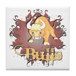 Bulls! Mascot Tile Coaster