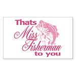 Miss Fisherman Rectangle Sticker