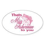Miss Fisherman Oval Sticker (10 pk)