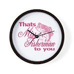 Miss Fisherman Wall Clock
