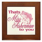 Miss Fisherman Framed Tile