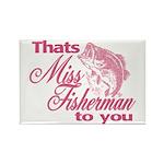 Miss Fisherman Rectangle Magnet